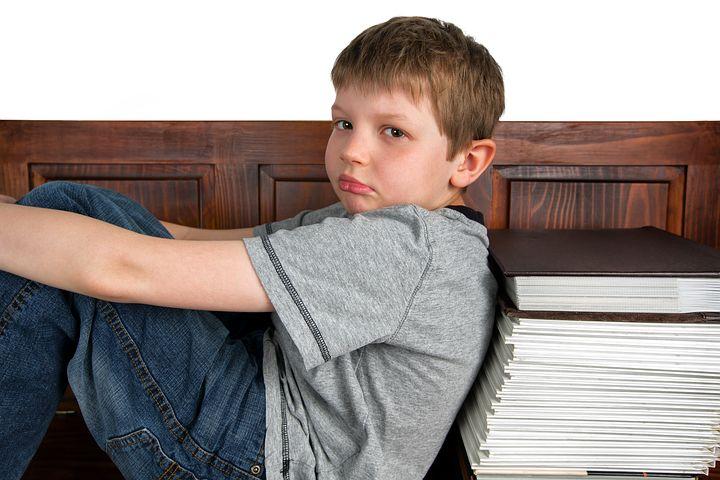 kid staring at nowhere